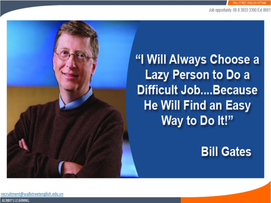 Job opportunity - Wall Street English - Bill Gates - An easy way.png