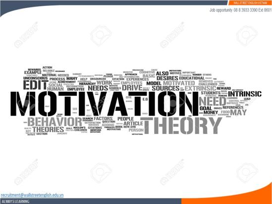 Job opportunity - Wall Street English - Motivation