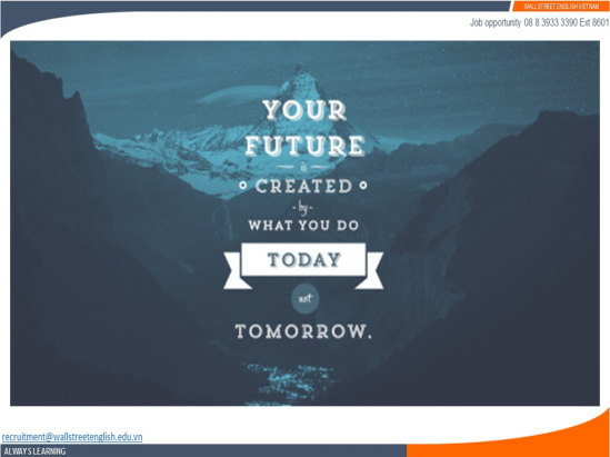 Job opportunity - Wall Street English - Your future is today